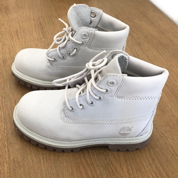 Timberland Ghost White Suede Boots